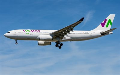 Airbus A330-200, passenger plane, air travel, airliner, A330-200, Wamos Air, Pullmantur Air, Spanish airline
