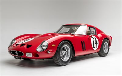 Ferrari 250 GTO, 1963, exterior, roadster, red 250 GTO, retro sports cars, italian sports cars, Ferrari