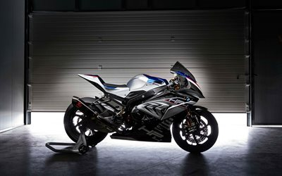 BMW HP4 Race, 2017, Sport cyklar, hangar, garage, BMW HP4