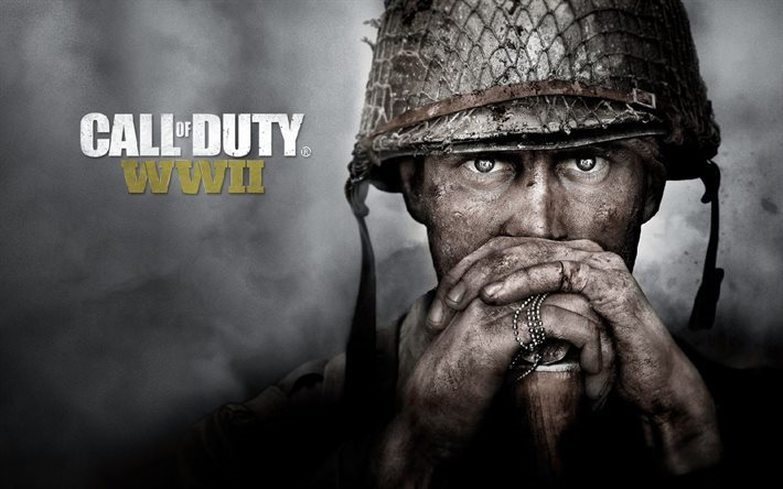 Call of Duty WWII, 2017, Poster, soldier, new games, Call of Duty