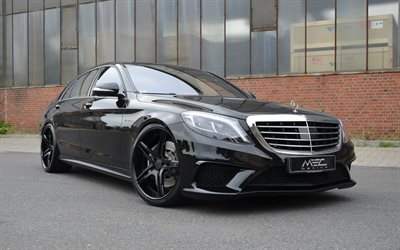 Mercedes-Benz S-Class, AMG, MEC Design, Black S-Class, Tuning W222, German cars, Mercedes