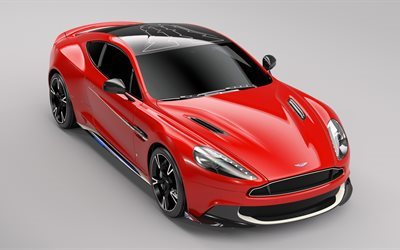 Aston Martin Vanquish, S Red Arrows Edition, 2017 cars, supercars, 4k, Aston Martin, red Vanquish S