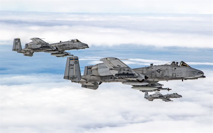 Fairchild Republic A-10, Thunderbolt II, American attack aircraft, US Air Force, A-10C