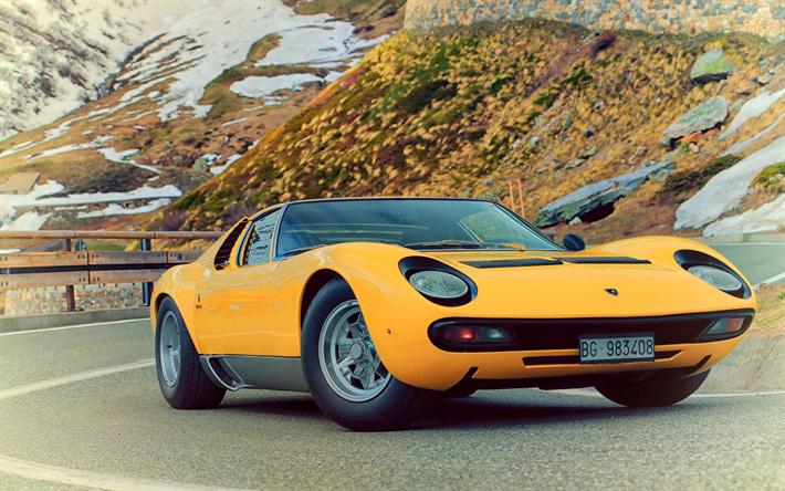 Telecharger Fonds D Ecran Lamborghini Miura 1971 Jaune Coupe Sport