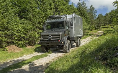 Mercedes-Benz Unimog, Bimobil EX 435, off-road, U4023, off-road truck version, lastbil för resor