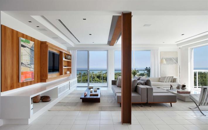 Elegante Sala De Luz Interior, Um Design Interior Moderno, Piso Laminado,  Mobiliário Elegante
