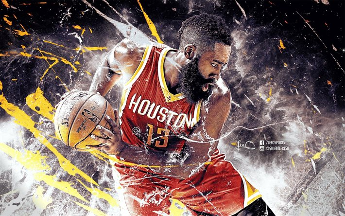 Download wallpapers Houston Rockets, NBA, James Harden ...
