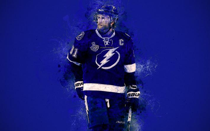 Steven Stamkos 4k Canadian Hockey Player Striker NHL Paint Art