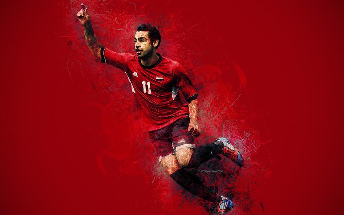 Download Wallpapers Mohamed Salah, 4k, Egypt National