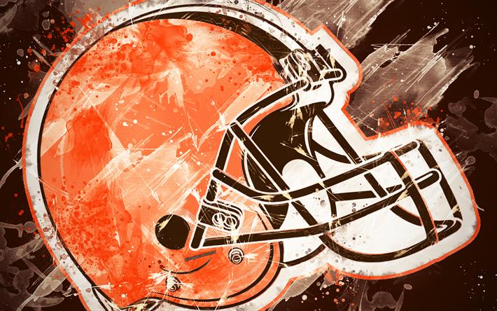Download Wallpapers Cleveland Browns 4k Logo Grunge Art