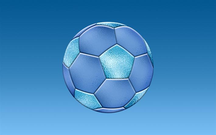 Scarica Sfondi Blu Pallone Da Calcio Calcio Sfondo Palla Su