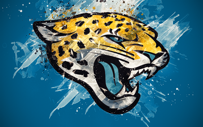 Download Wallpapers Jacksonville Jaguars 4k Logo Grunge Art
