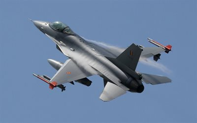 F-16 Fighting Falcon, General Dynamics, American fighter, US Air Force, USA, F-16, military aircraft