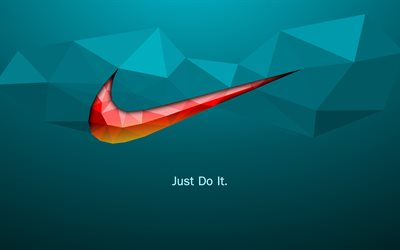 Slogan di Nike, Just do it, 4k, creativo, Nike