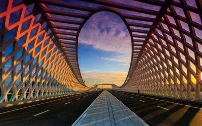 Beiqijia Bridge, Asia, modern architecture, Modern bridge, Changping, Beijing, Chine