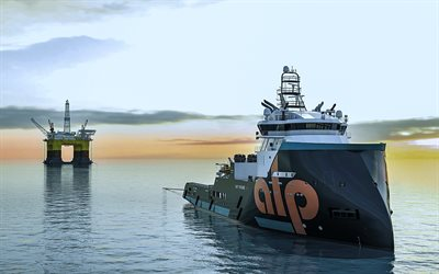 Alp Future, sea, vessel, Offshore Supply Ship, drilling platform, AHT vessels