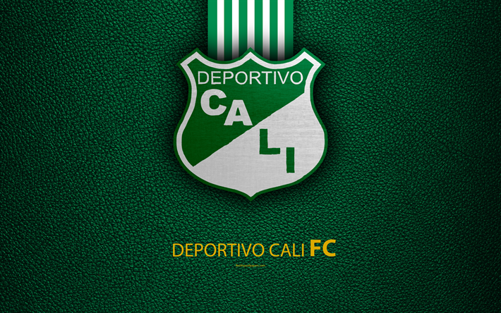 Download Wallpapers Deportivo Cali 4k Leather Texture Logo