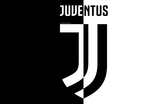 Download Wallpapers Juventus Fc New Logo 4k Black And White New Emblem Art Italian Football Club Turin Serie A Italy Football Juve For Desktop Free Pictures For Desktop Free