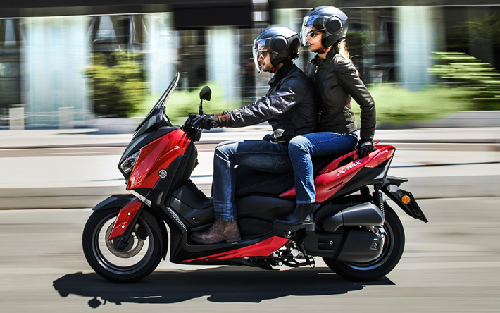 download wallpapers yamaha x max 125 2018 scooter city transport scooter riding new. Black Bedroom Furniture Sets. Home Design Ideas