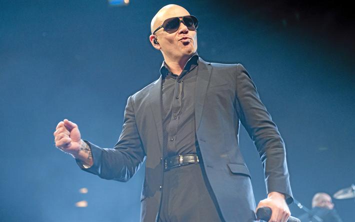 Download wallpapers Pitbull, superstars, american singer