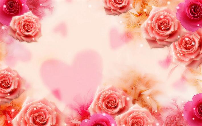 Descargar Fondos De Pantalla Floral De Fondo, Rosas