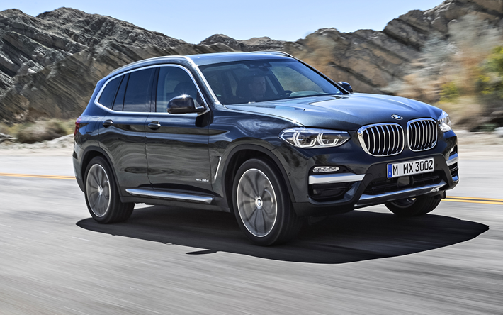 download wallpapers bmw x3 2018 crossovers new x3 german cars gray x3 bmw for desktop free. Black Bedroom Furniture Sets. Home Design Ideas