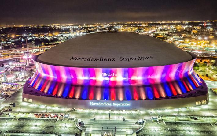 download wallpapers mercedes benz superdome new orleans saints stadium new orleans louisiana usa nfl american football superdome for desktop free pictures for desktop free wallpapers mercedes benz superdome