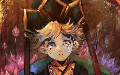 Download Wallpapers Crying Doma Artwork Manga Demon Hunter Kimetsu No Yaiba Doma Twelve Demon Moons For Desktop Free Pictures For Desktop Free