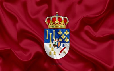 Salamanca Flag, 4k, silk texture, silk flag, Spanish province, Salamanca, Spain, Europe, Flag of Salamanca, flags of Spanish provinces