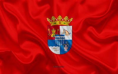 Segovia Flag, 4k, silk texture, silk flag, Spanish province, Segovia, Spain, Europe, Flag of Segovia, flags of Spanish provinces