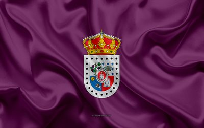 Soria Flag, 4k, silk texture, silk flag, Spanish province, Soria, Spain, Europe, Flag of Soria, flags of Spanish provinces