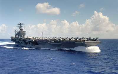 USS Abraham Lincoln, CVN-72, Nimitz-class, American aircraft carrier, US Navy, nuclear carrier, USA, military aircraft on deck