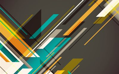 material design, lines, retro abstract art, geometry, creative, geometric shapes, lollipop, triangles, strips, gray backgrounds