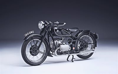 BMW R 5, 4k, 1937 bikes, retro motorcycles, studio, 1937 BMW R 5, german motorcycles, BMW