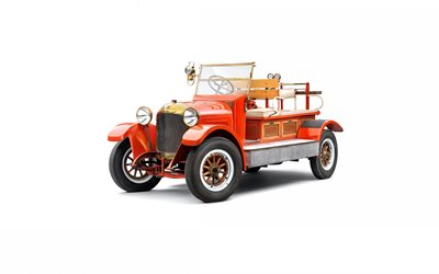 Laurin Klement Mf, 1919, fire truck, retro cars, retro fire truck, Laurin Klement