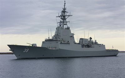 HMAS Hobart, DDGH 39, lead ship, air warfare destroyers, warship, new ships, Royal Australian Navy