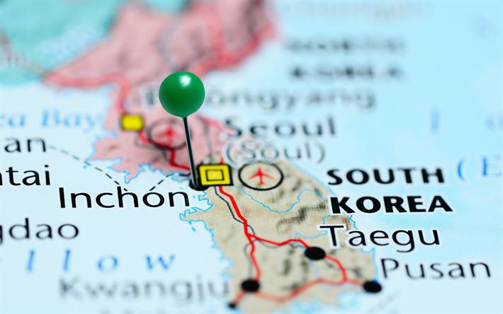 Lataa Kuva Matkustaa Etela Koreaan Inchon Pusan Korean Kartta