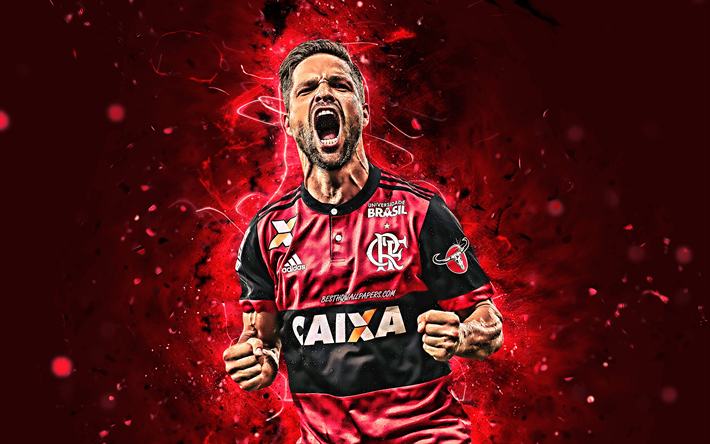 Download Wallpapers 4k Diego Ribas Goal Flamengo Fc