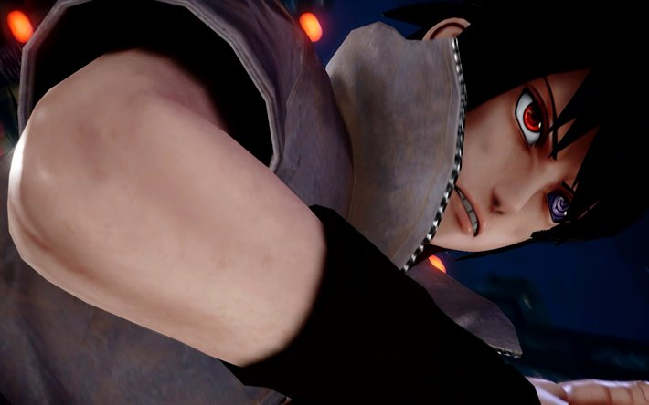 thumb2 4k sasuke uchiha jump force naruto characters blue lightings