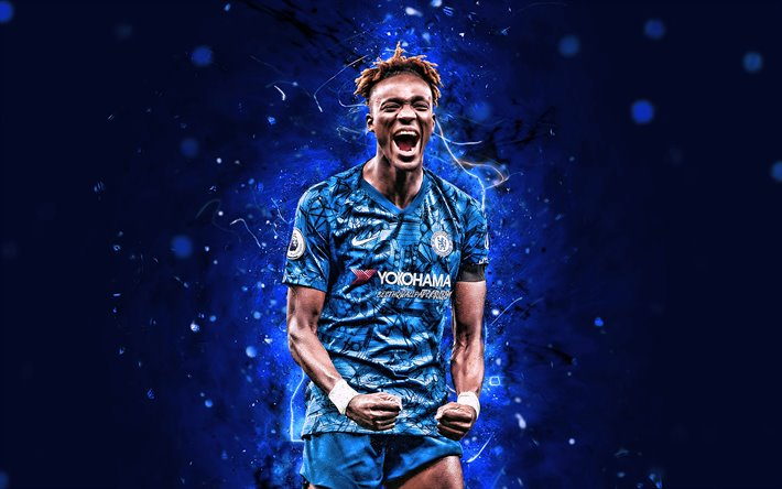 Download Wallpapers Tammy Abraham 2020 Chelsea Fc 4k English Footballers Premier League Soccer Goal Kevin Oghenetega Tamaraebi Bakumo Abraham Football Neon Lights England Tammy Abraham 4k For Desktop Free Pictures For Desktop Free