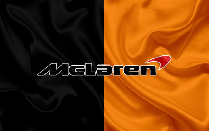Download wallpapers McLaren Honda Formula 1, 4k, F1, silk ... Mclaren Logo Wallpaper
