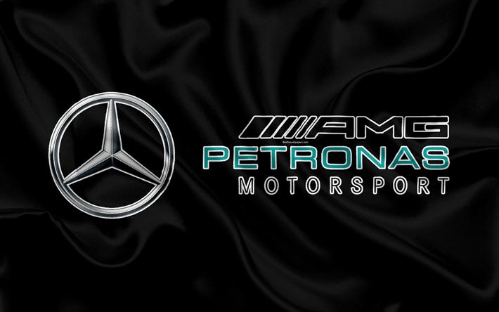 Download Wallpapers Mercedes Amg Petronas Motorsport 4k F1 Silk