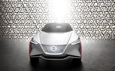 Nissan IMx, zero-emission concept, 2018, 4k, front view, electric car, crossover, Japanese cars, Nissan