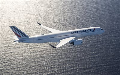 Airbus A350 XWB, Air France, passenger plane, Airbus A350-900, air travel, Passenger Transportation