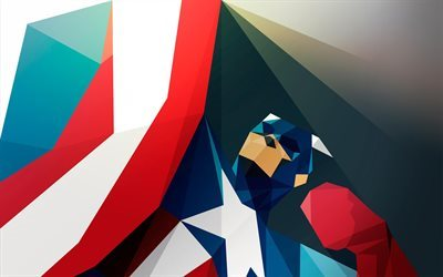 Captain America, art, creative, superheroes
