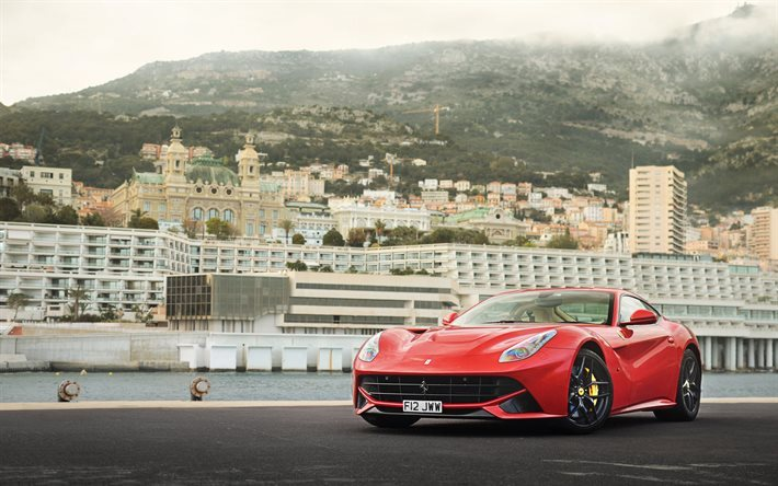 Download wallpapers Ferrari F12 Berlinetta, 2016 ...