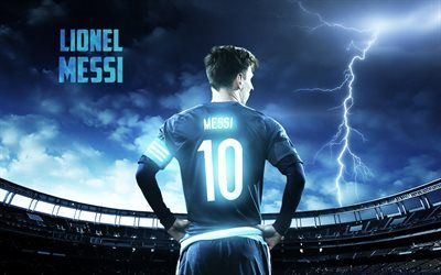 Lionel Messi, fan art, football stars, Barcelona, creative, Leo Messi