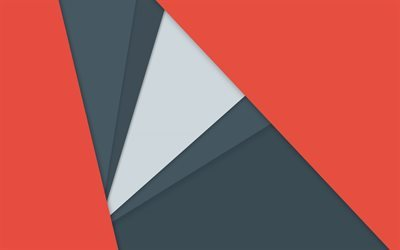 lines, triangle, gray, red, geometry, Android 5, Lollipop