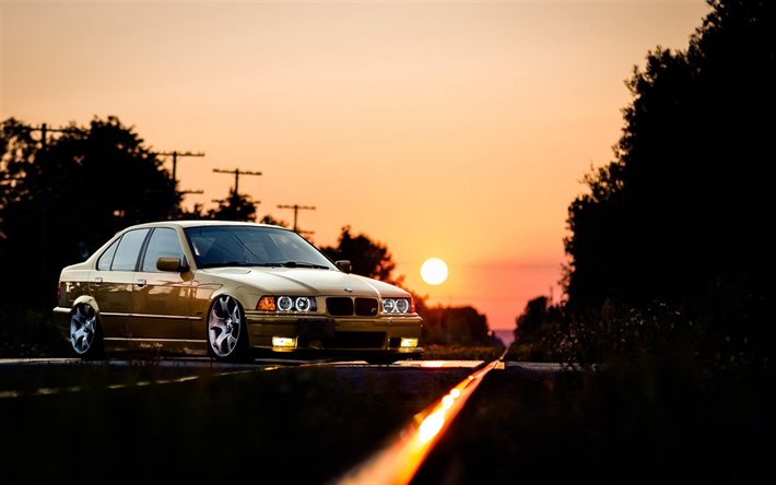 Download Wallpapers Bmw M3 Tuning Road E36 Stance Low Rider German Cars Bmw For Desktop Free Pictures For Desktop Free