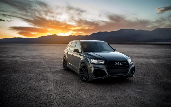 Descargar Fondos De Pantalla Audi Q7 Gris Suv De Lujo El